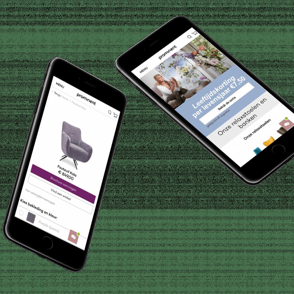 prominent mobile oplossingen binnen Magento